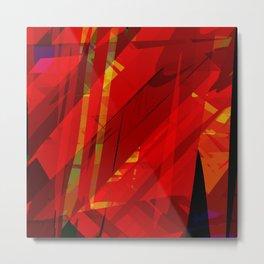 red spiky Metal Print