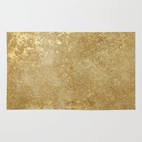 rush Area & Throw Rugs featuring Gold Rush by 83 Oranges™