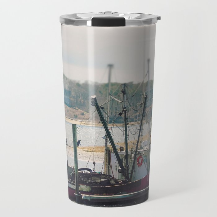 Cape Cod Fishing Boat Travel Mug