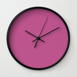 Peony Afternoon ~ Fuchsia Pink Wall Clock