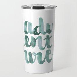 Adventure Green Watercolor Travel Mug
