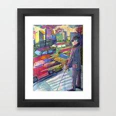 A blind man  Framed Art Print