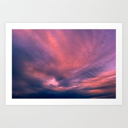 Twilight light of a cloud  skylight Art Print