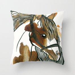 Tea Horse Throw Pillow
