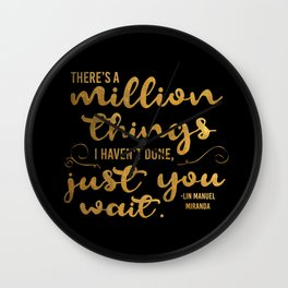 A Million Things I Haven't Done Wall Clock