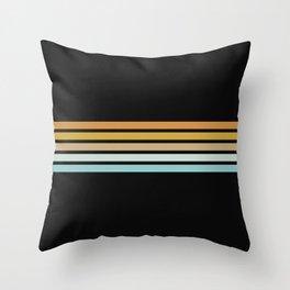 Retro Sunshine Stripes Throw Pillow