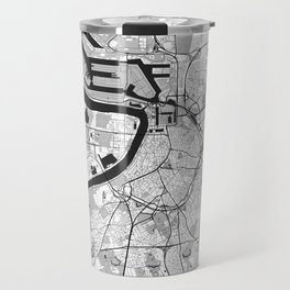 Antwerp Map Gray Travel Mug