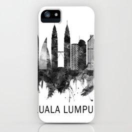 Kuala Lumpur Malaysia Skyline BW iPhone Case