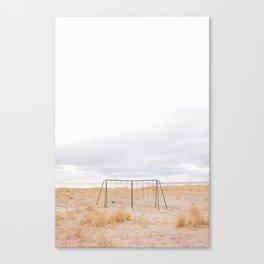 Swing set in Seaside, Oregon coast Canvas Print