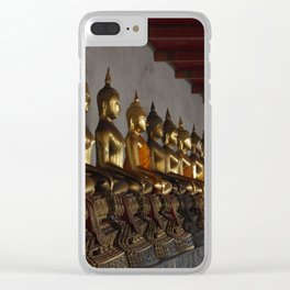 Buddha in a Row Clear iPhone Case