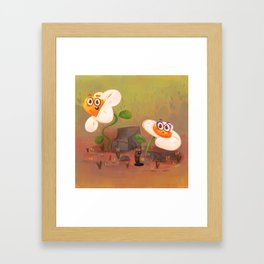 Happy flower dudes Framed Art Print