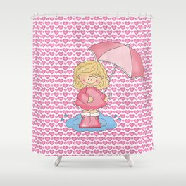 Puddle Jumper Girl Shower Curtain