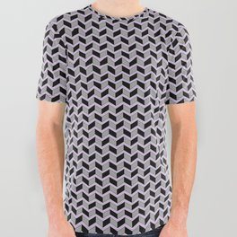 Gridded All Over Graphic Tee