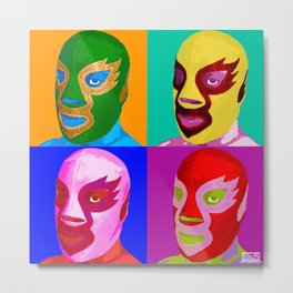 Pop Lucha Metal Print