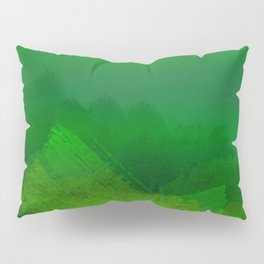 brush stroke aquamarine Pillow Sham