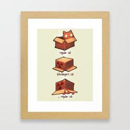 Schrödinger's cat Framed Art Print
