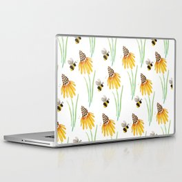 Rudbeckia Cone Flowers & Bumble Bees Laptop & iPad Skin