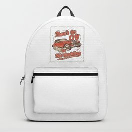 There's No Cry In Hot Rodding Classic Old Car Racing Modern American Cars Racer Gifts Backpack