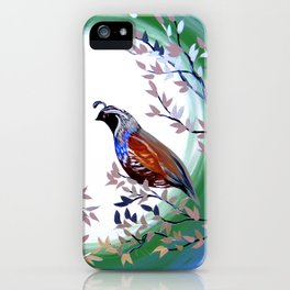 Quails and Serenity iPhone Case