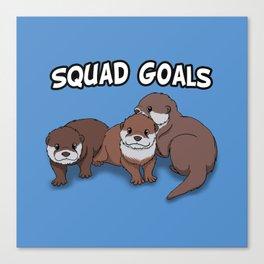 Otter Squad Goals Canvas Print