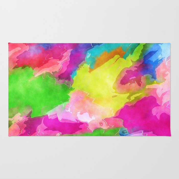 Watercolor Ink Abstract Rug
