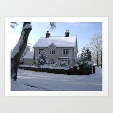 Christmas Cottage Art Print