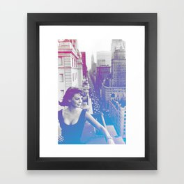 Natalie Wood Cityscape Framed Art Print