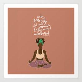 Brown Girl Serenity  Art Print