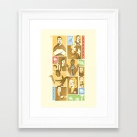 parks and rec Framed Art Prints featuring Parks & Rec by Florey