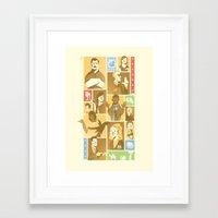 parks Framed Art Prints featuring Parks & Rec by Florey