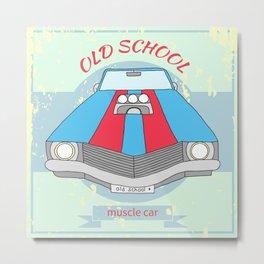 retro car Metal Print