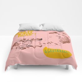 Wake Up Tiger - Coral Comforters
