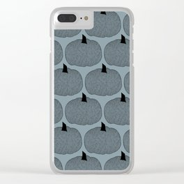 Pumpkins on Gray Arona Clear iPhone Case