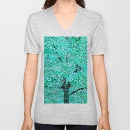 Trees Green Misty Unisex V-Neck