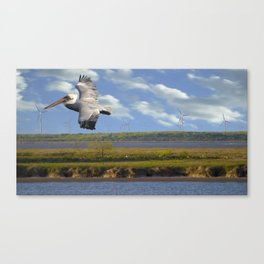 Pelican Wind Turbines Canvas Print