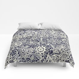 Lace on Nautical Navy Blue Comforters
