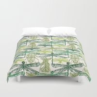 insects Duvet Covers featuring Insects by nkpappas