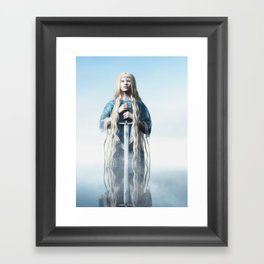 Lady of the Lake Framed Art Print