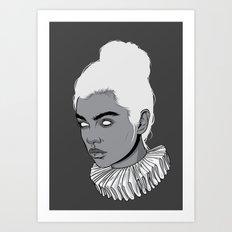 Gray lady Art Print