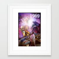 woodstock Framed Art Prints featuring Woodstock 1969 by ZiggyChristenson