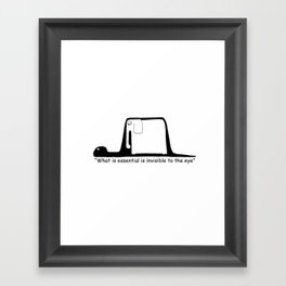 The Little Prince. Boa, elephant or hat. Framed Art Print