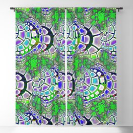 Steppin' Stone 3D Psychedelic Blackout Curtain