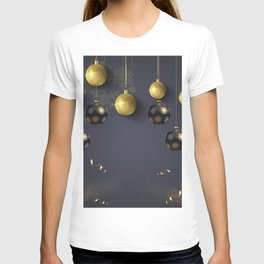 Decorative background with bright christmas details T-shirt