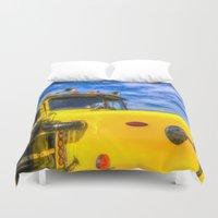 truck Duvet Covers featuring Peterbilt Truck by David Pyatt