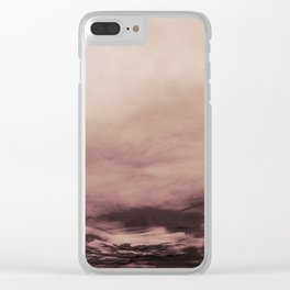 PINK & GOLD & BLACK TOUCHING #1 #abstract #decor #art #society6 Clear iPhone Case