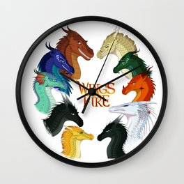 Wings of Fire Dragon - All Together Painting Wall Clock