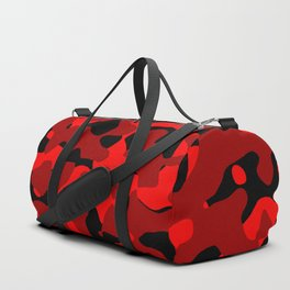 Black and Red Camo abstract Duffle Bag