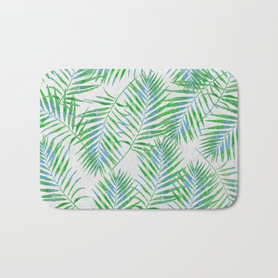 Fern Leaves Grey Bath Mat
