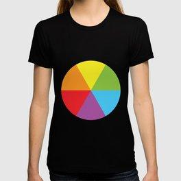 rainbow colour wheel T-shirt