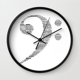 Typographic Fa key Wall Clock